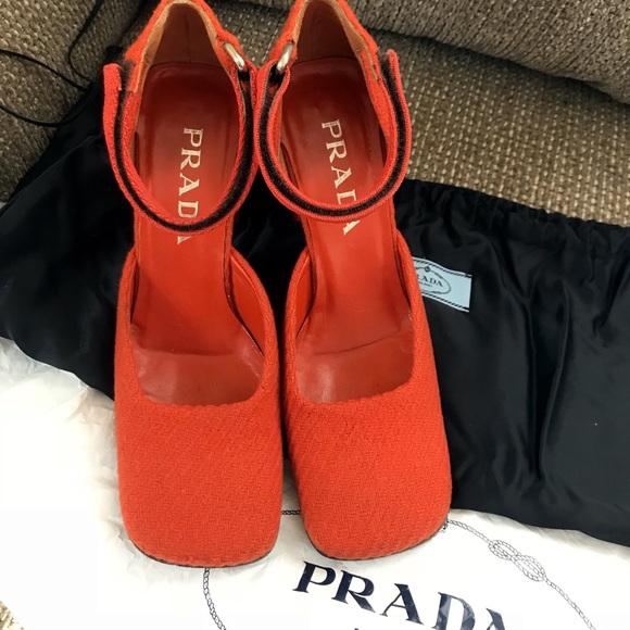 3a7e964fc1 Prada Shoes | Authentic Rare Vintage Wool Pumps | Poshmark